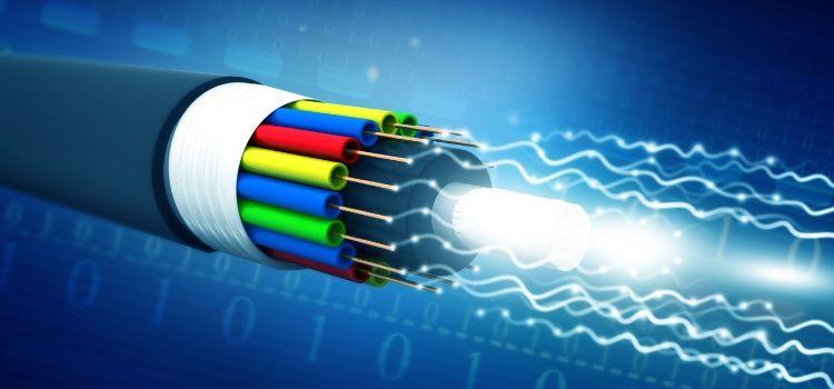 fibra óptica cabo