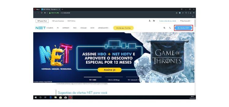 site oficial da net